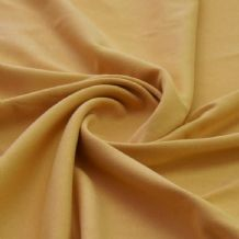 Mustard - Plain 100% Cotton Interlock Double Jersey
